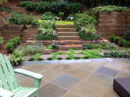 patio steps pea size x: garden with stone paver steps and timber walls this patio steps and