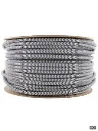 black white stripe fabric lighting flex cable round black fabric lighting