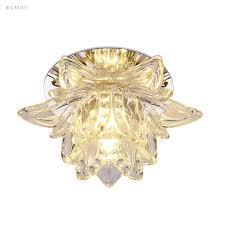 Colorful Led Lotus Crystal Ceiling Chandelier Light Spot Light for ...