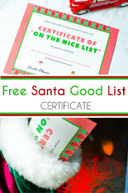 santa good list certificate brought to you by mom family 0