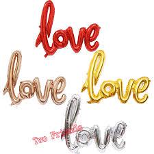 <b>5pcs</b>/<b>lot</b> large Ligatures <b>Love Letter</b> Foil Balloons Anniversary ...