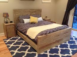 furniture unstained pallet wood bed build your own bedroom furniture
