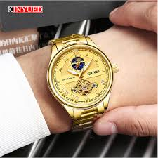 <b>KINYUED Mens</b> Business Watches Luxury Top Brand <b>Automatic</b> ...