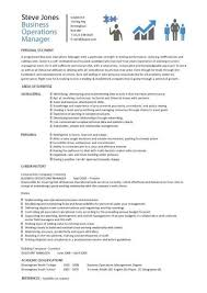 business operations manager resume operation manager resume