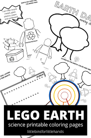Small Picture LEGO Earth Science Coloring Pages Earth Day Activities