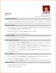 resume format for hospitality industry resume format  8