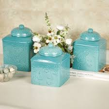 Turquoise Kitchen Kitchen Canisters And Canister Sets Touch Of Class
