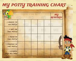 potty training charts graphic love shop printable jake and the neverland pirates potty training chart punch cards digital jpg