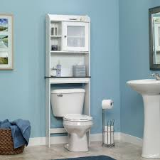 bathroom space savers bathtub storage: amazoncom sauder caraway etagere bath cabinet soft white finish kitchen amp dining