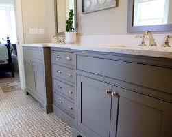 bathroom white tiles: bathrooms white gray basketweave tiles floor gray bathroom cabinets