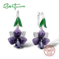 <b>SANTUZZA Silver Earrings For</b> Women 925 Sterling Silver Dangle ...