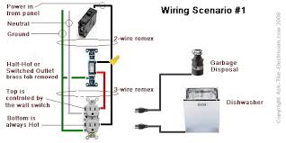 electrical wiring diagramsdisposal outlet wiring diagram