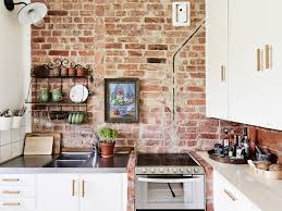 Wall For Kitchens Brick Wall Kitchen Coco Lapine Design Industrial Bars Open