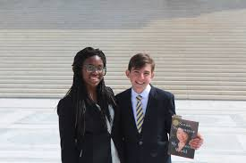 civics essay contest high school and middle school winners isabelle scott and alexander ashman ing the supreme court for a meeting sonia soto or on 17 2017
