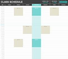 excel templates excel spreadsheets class schedule