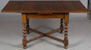 english oak pub table: the two leaves extend the table to quot quot per leaf