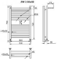 <b>Полотенцесушитель водяной Ника</b> Modern ЛМ-3 80/50 белый ...