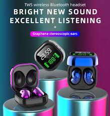 New <b>S6 Plus</b> Bluetooth 5.1 <b>TWS</b> Earphones With LED Display JIELI ...