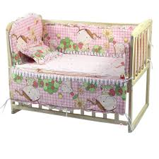 <b>2019</b> New <b>5pcs</b>/set Baby Bed Bumpers Pure Cotton Infant Bedding ...