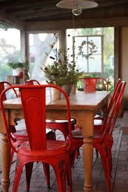 industrial chairs with farm table what a great look brilliant 14 red furniture