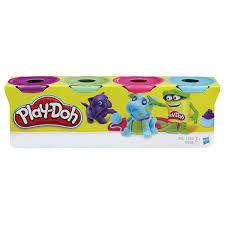 Купить <b>Пластилин PLAY-DOH Hasbro</b>, 4 цвета, 546 г, баночки в ...