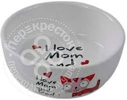 <b>Миска для животных Foxie</b> I love Mom красная керамическая 12.5 ...