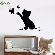 <b>YOYOYU Vinyl Wall Decal</b> Cute Cartoon Cat Scratching The ...