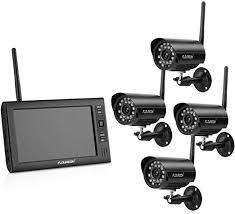 <b>FLOUREON 4CH</b> 2.4GHz Digital <b>Wireless CCTV</b> System 4 Cameras ...