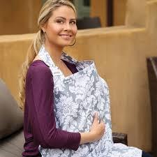 designer nursing cover by bebe au lait chateau silver