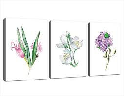 Canvas Wall Art Flowers Painting Picture <b>Prints Simplicity</b> Colorful