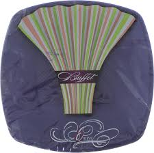 "Набор <b>одноразовых тарелок</b> ""Buffet"", цвет: фиолетовый, 23 х 23 ..."