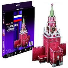 Объемный 3D пазл <b>CUBICFUN Спасская башня</b> - купить по ...