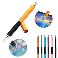 2 in 1 Mutilfuction <b>Fine Point</b> Round <b>Thin Tip</b> Touch Screen Pen ...