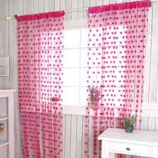 2016 1pcs heart shape panel line curtain romantic curtains partition modena polyester wall vestibule curtains for cheap office partitions