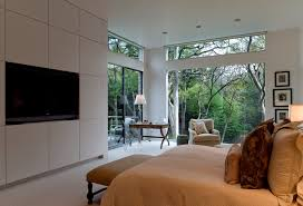 the see through house example of a mid sized 1950s bedroom design in dallas with white carpets bedrooms ravishing home