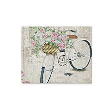 InterestPrint Watercolor Vintage Bicycle With <b>Beautiful Flower Floral</b>