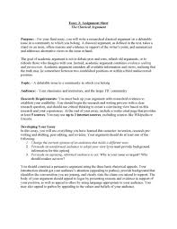 examples of argument essay format for a cover letter resume sample cover letter example of an argument essay example of argument description essay classical argument unit assignment page an example of evaluation analysis