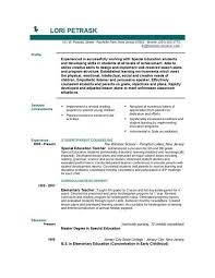 example resume what is the objective for a resume education and special education teacher sample resume