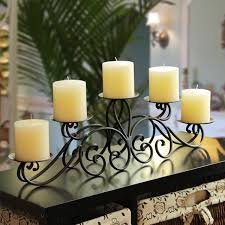 adeco 5 pillar iron table top candle holder beautiful living room pillar