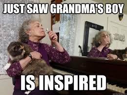 Stoner Grandma memes | quickmeme via Relatably.com