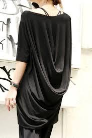 Oversize Draped Tunic Top/ <b>Black Loose</b> Dress Tunic / by Aakasha ...