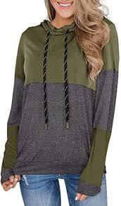 PINKMSTYLE Women's Long Sleeve Color Block ... - Amazon.com