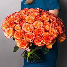 Купить <b>оранжевые</b> розы в СПб дешево с доставкой | Цветариус