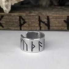 Rune Ear Cuff - Viking - Silver Aluminum - for Men ... - Amazon.com
