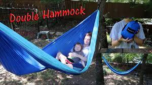 <b>DOUBLE</b> CAMPING <b>HAMMOCK</b> 🦋 2 PEOPLE <b>PORTABLE</b> ...