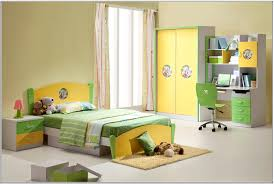 unique children bedroom furniture idea with yellow wardrobe and white study table light green swivel blue kids furniture wall