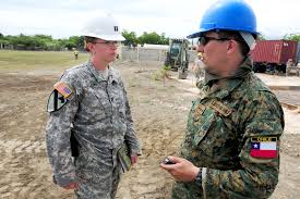 u s department of defense photo essay n republic u s army capt zaleski left talks to a an ier about construction progress
