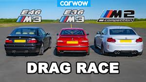 BMW <b>E46</b> M3 vs <b>E36 M3</b> vs M2 Comp: DRAG RACE - YouTube