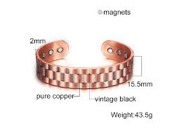 Vinterly Pure Copper Bangles for <b>Men Women Adjustable</b> Wide Cuff ...