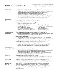 engineer sample resume software mechanical engineer new grad gallery of software professional resume samples